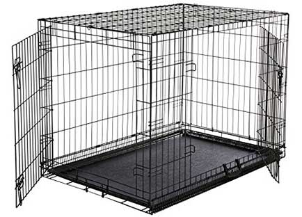 Best dog crate reviews - AmazonBasics Folding Metal Dog Crate