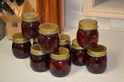 pickled or canned beets