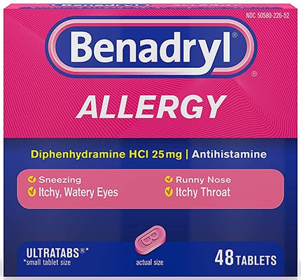Benadryl for cat allergy